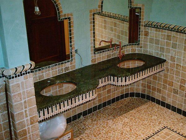 Rivestimento bagno rustico foto - Foto rivestimento bagno ...